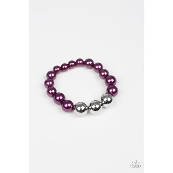 Paparazzi All Dressed UPTOWN - Purple Pearl Bracelet - A Finishing Touch