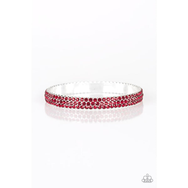 Paparazzi Ballroom Bling - Red Rhinestone Bracelet - A Finishing Touch