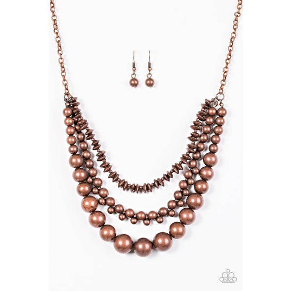 Paparazzi Beaded Beauty - Copper Necklace - A Finishing Touch