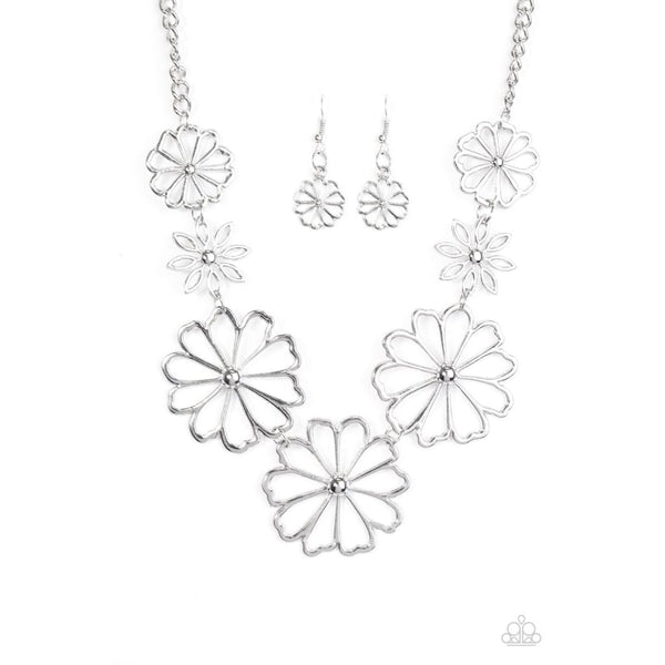 Paparazzi Blooming With Beauty - Silver - A Finishing Touch Jewelry