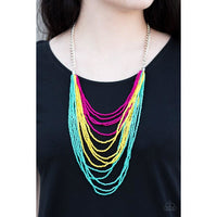 Paparazzi Bora Bombora - Multi Necklace - A Finishing Touch