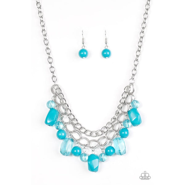 Paparazzi Brazilian Bay - Blue Bead Necklace - A Finishing Touch