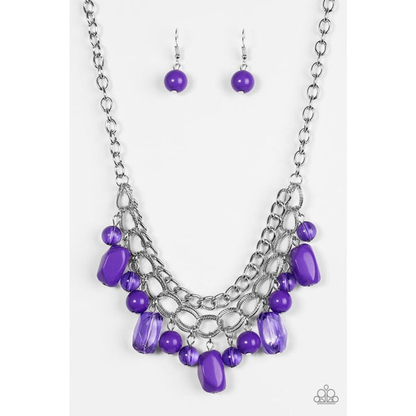 Paparazzi Brazilian Bay - Purple Bead Necklace - A Finishing Touch