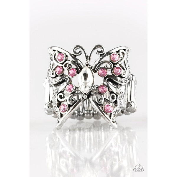 Paparazzi Butterfly Bliss - Pink Rings - A Finishing Touch