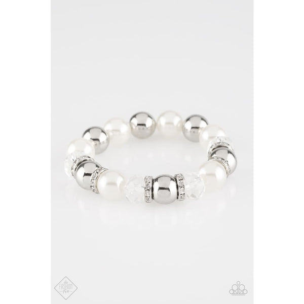 Paparazzi Camera Chic - White Bracelet - A Finishing Touch