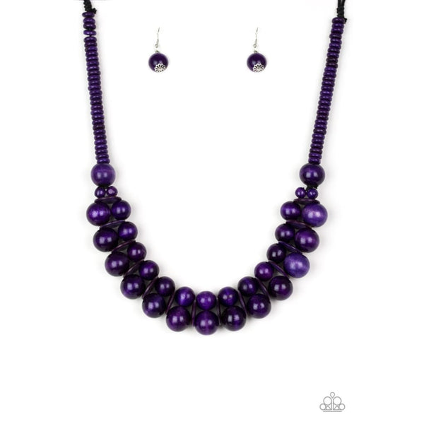 Paparazzi Caribbean Cover Girl - Purple - A Finishing Touch Jewelry