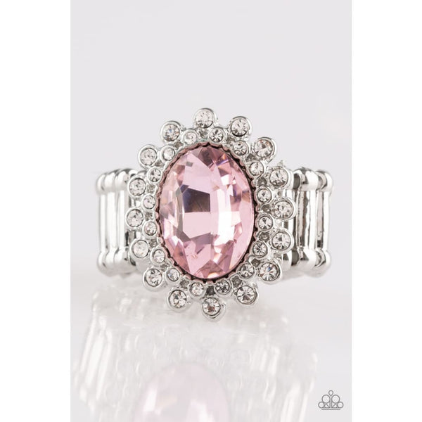 Paparazzi Castle Chic - Pink Rings - A Finishing Touch