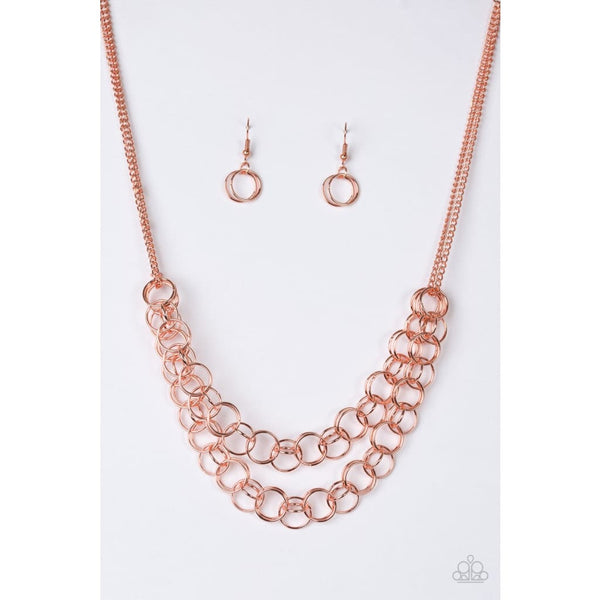 Paparazzi Circus Tent Tango - Copper - Necklace - A Finishing Touch