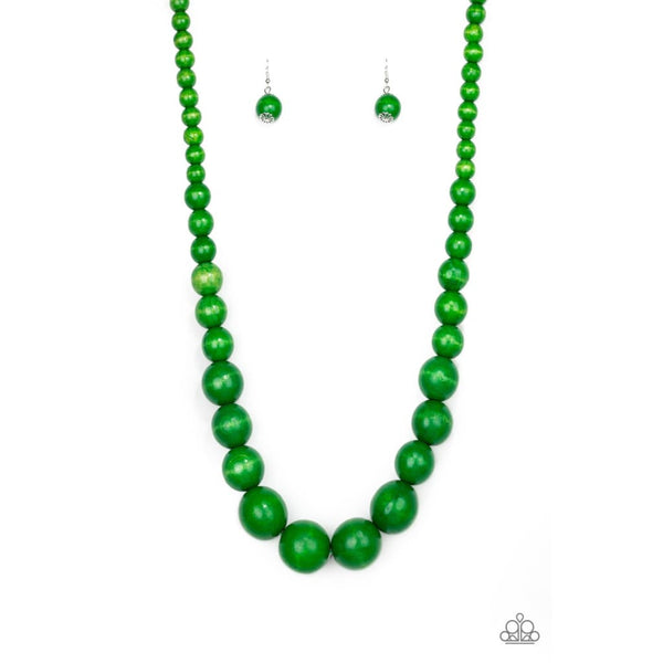 Paparazzi Effortlessly Everglades - Green Necklace - A Finishing Touch