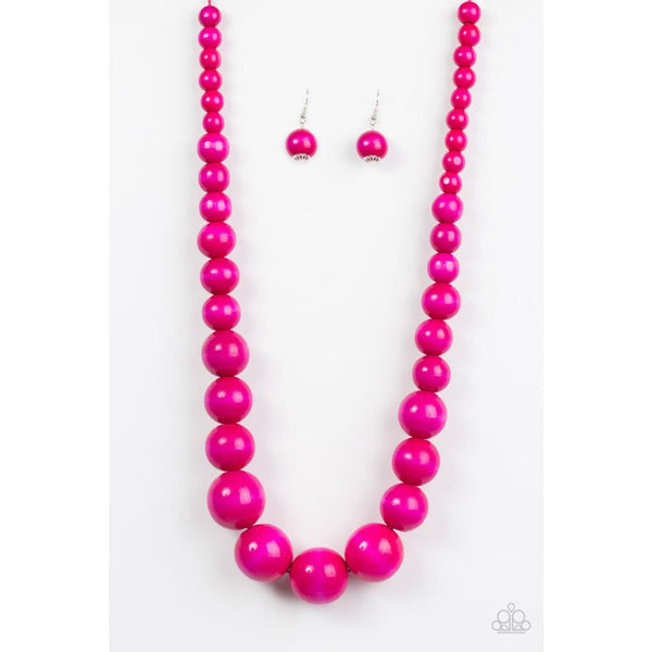 Paparazzi Effortlessly Everglades - Pink Necklace - A Finishing Touch