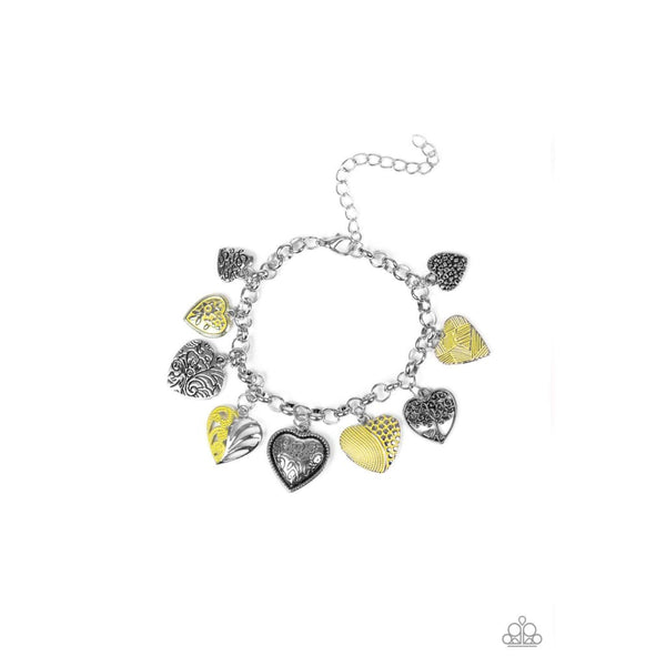 Paparazzi Garden Hearts - Yellow - A Finishing Touch