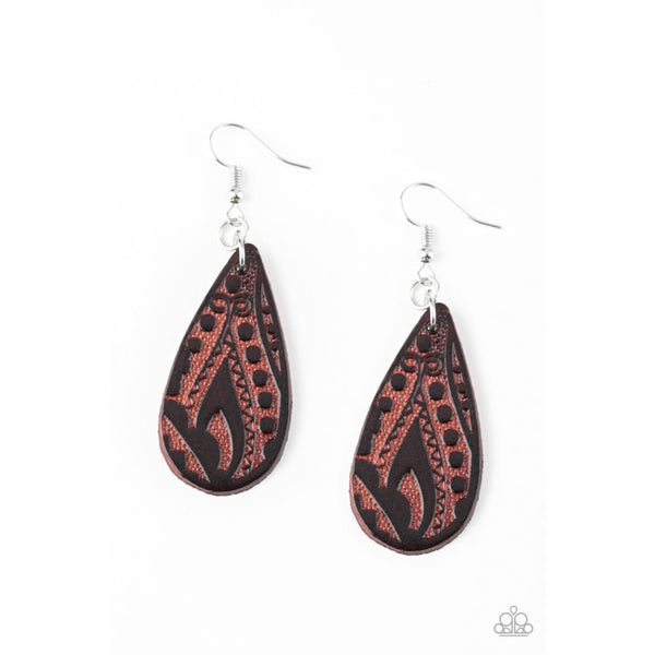 Paparazzi Get In The Groove - Brown Earrings - A Finishing Touch