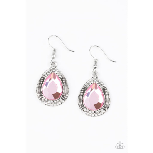 Paparazzi Grandmaster Shimmer - Pink Earrings - A Finishing Touch