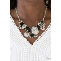Paparazzi Grotto Grandeur - Black Necklaces - A Finishing Touch