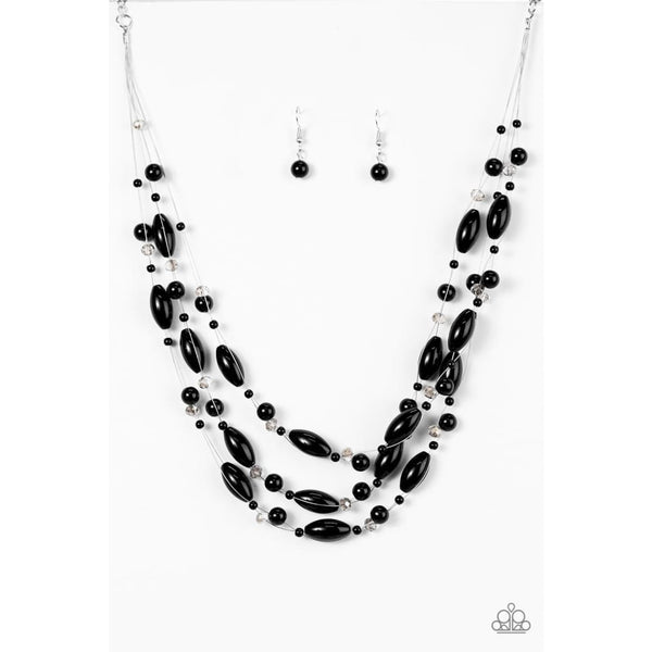 Paparazzi Happy Is The Bride - Black Necklaces - A Finishing Touch