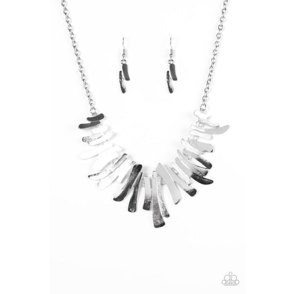 Paparazzi Hold Some, BOLD Some - Silver Necklaces - A Finishing Touch