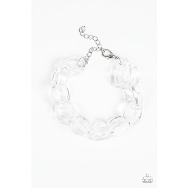Paparazzi Ice Ice Baby - White Bracelet - A Finishing Touch