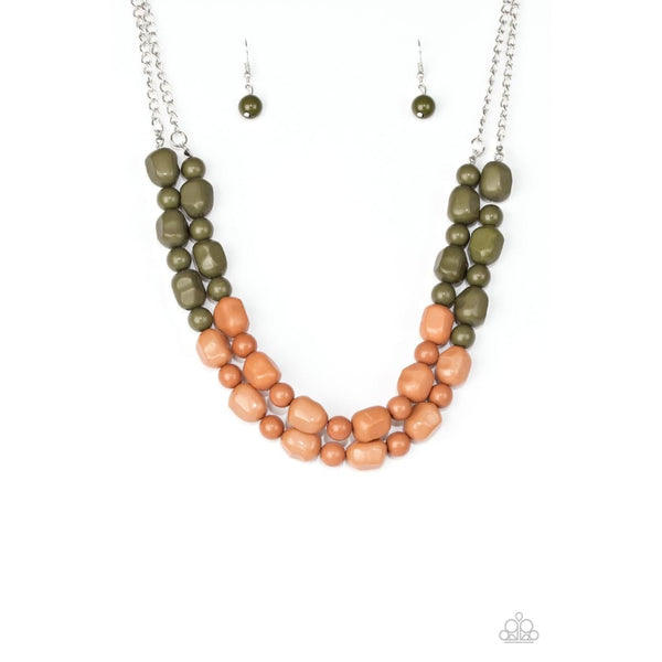Paparazzi Island Excursion - Green Bead Necklace - A Finishing Touch