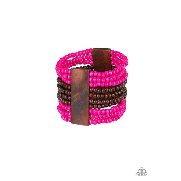 Paparazzi JAMAICAN Me Jam - Pink - A Finishing Touch Jewelry