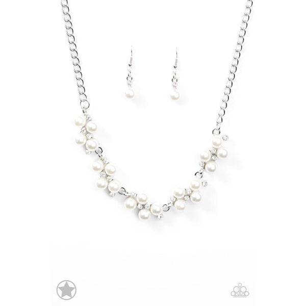 Paparazzi Love Story White Necklace - A Finishing Touch