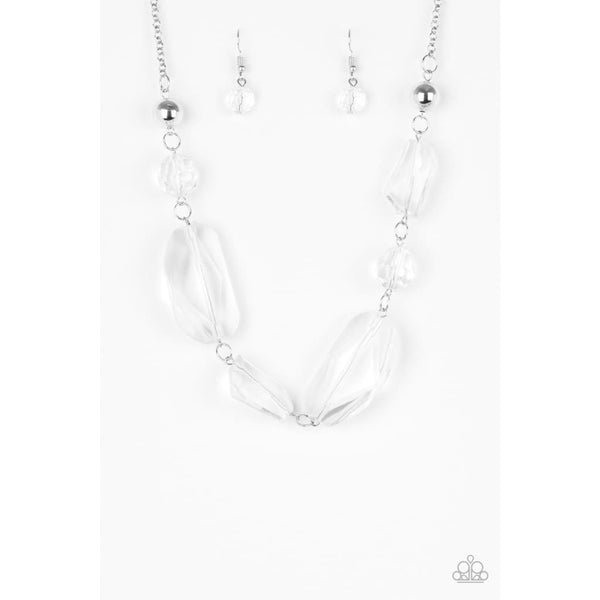Paparazzi Luminous Luminary - White Necklaces - A Finishing Touch