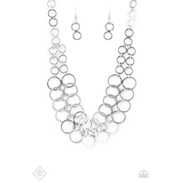 Paparazzi Metro Maven - Silver Necklace - A Finishing Touch