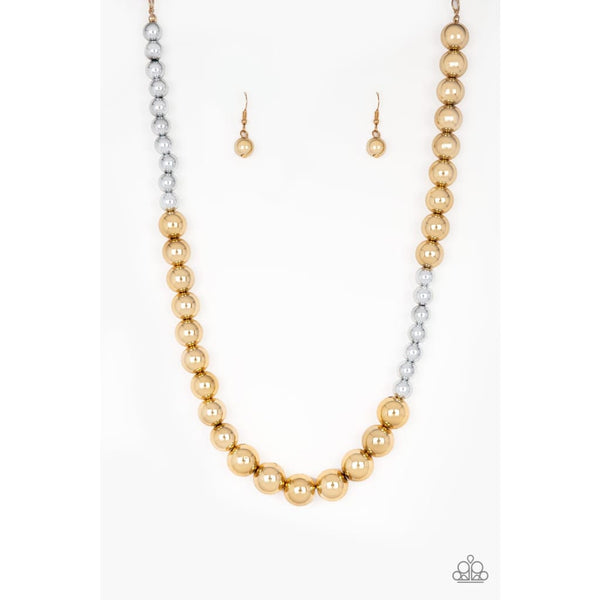 Paparazzi Power To The People - Gold Necklaces - A Finishing Touch