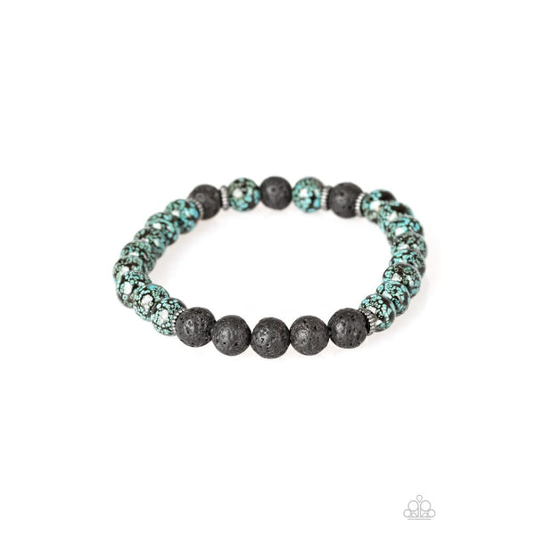Paparazzi Prosperity - Blue Bracelet - A Finishing Touch