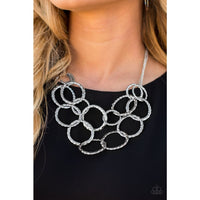 Paparazzi Radiant Ringmaster - Silver Necklace - A Finishing Touch
