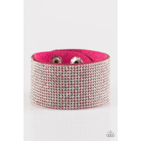 Paparazzi Roll With The Punches - Pink Bracelets - A Finishing Touch