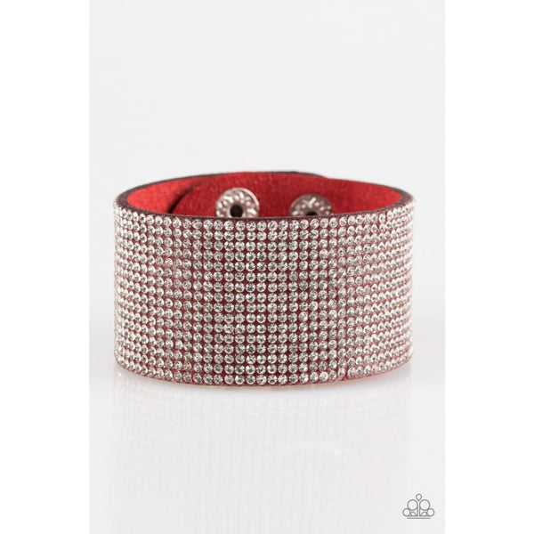 Paparazzi Roll With The Punches - Red Bracelet - A Finishing Touch