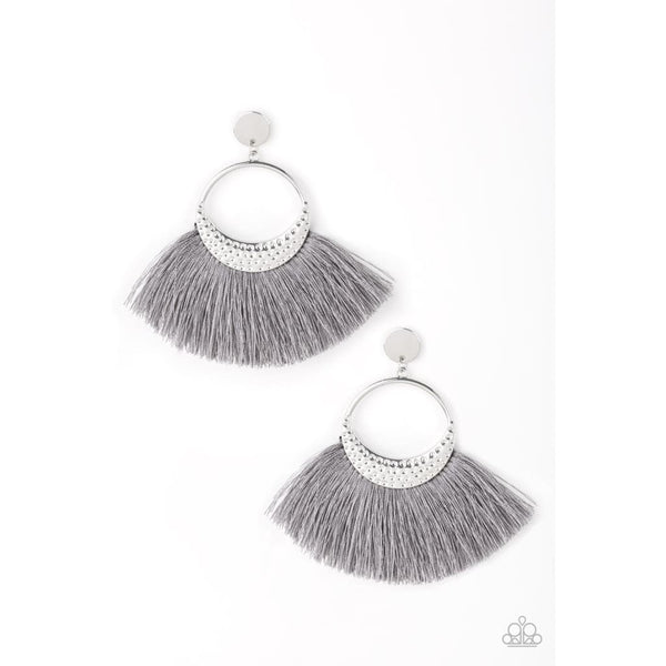 Paparazzi Spartan Spirit - Silver Tassel Earrings - A Finishing Touch