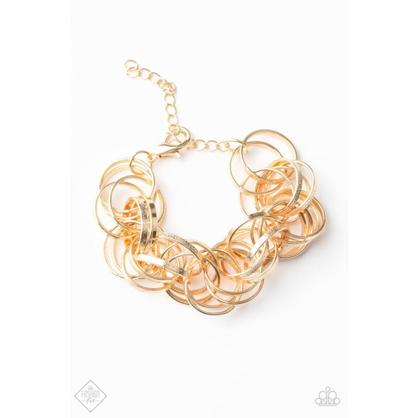 Paparazzi Statement Shimmer - Gold Bracelet - A Finishing Touch