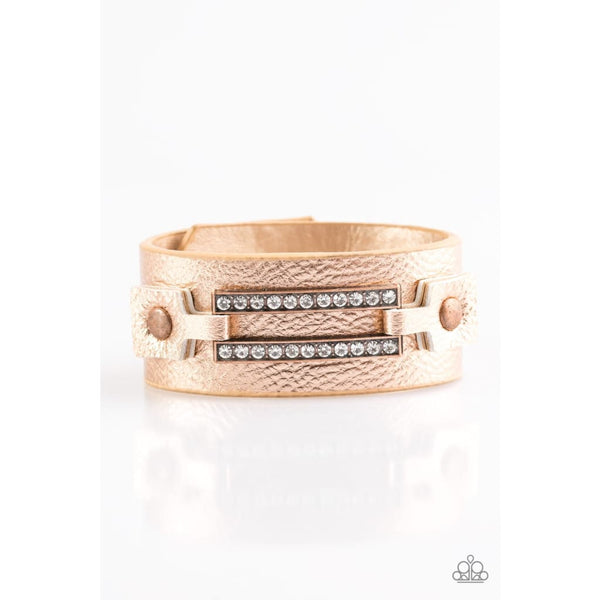 Paparazzi Street Glam - Copper Bracelets - A Finishing Touch