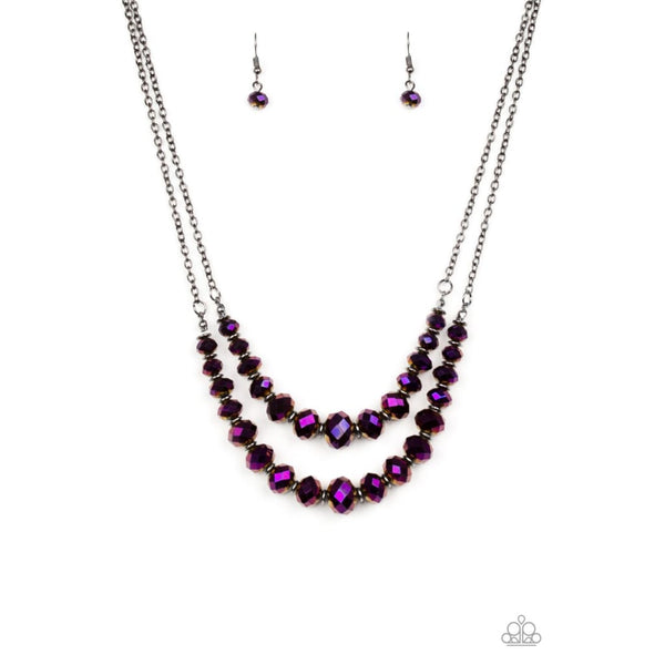 Paparazzi Strikingly Spellbinding - Purple Necklace - A Finishing Touch