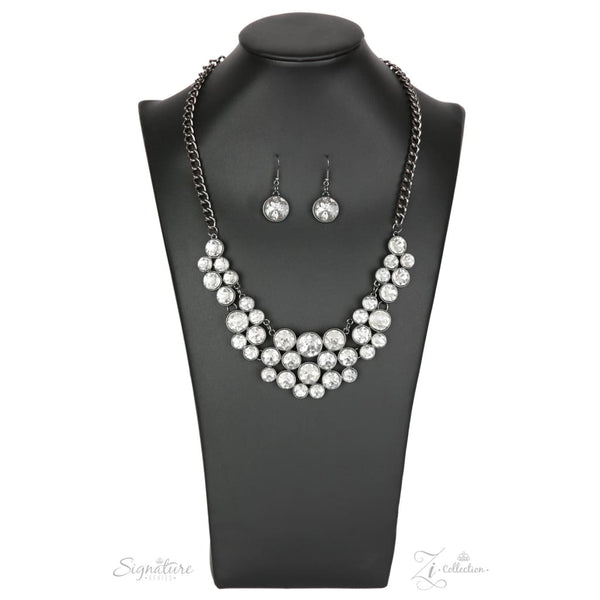 Paparazzi The Angela 2018 Zi Collection White Necklace - A Finishing Touch