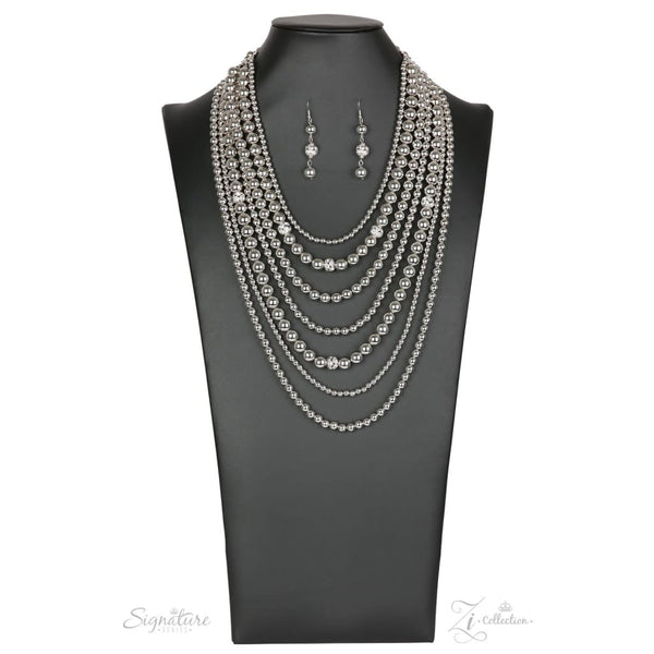 Paparazzi The Tina 2018 Zi Collection Silver Necklace - A Finishing Touch