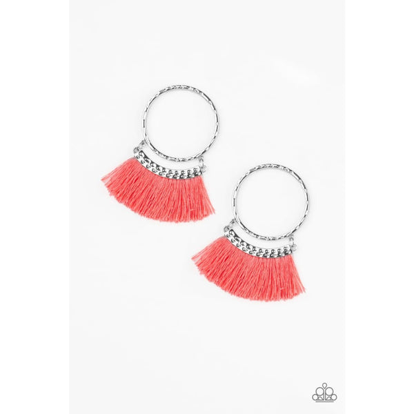 Paparazzi This Is Sparta! - Orange Earrings - A Finishing Touch