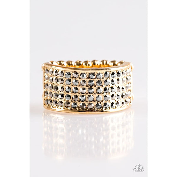 Paparazzi Time Is Money - Gold Rings - A Finishing Touch