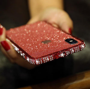 Bling Heart-Shaped Crystal Case For iPhone With Grade A Aluminum Frame