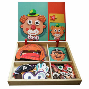 Magnetic puzzle box - preschool education toys - foster imagination