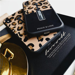 2019 New Fashion Adjustable bracket Leopard Case For iPhone