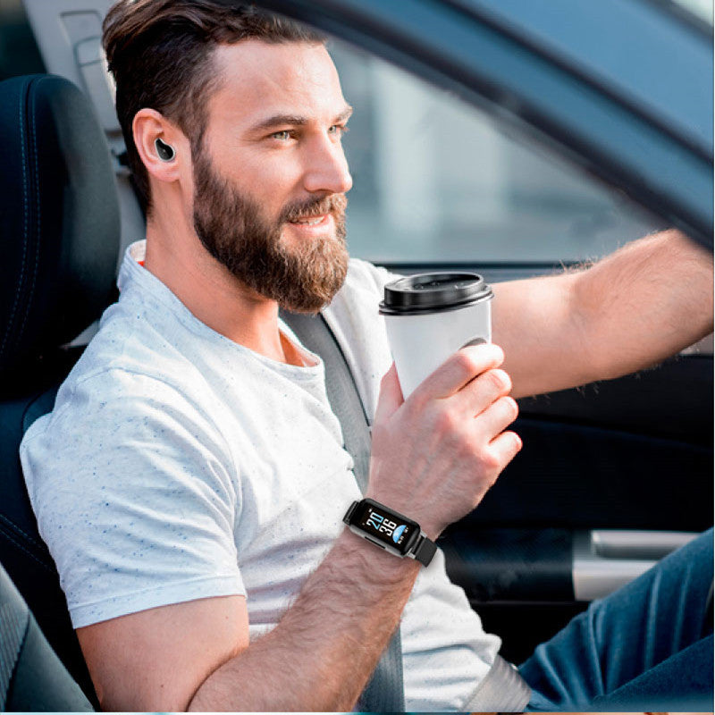 Free Shipping - Newest AI Smart Bracelet with WTS Bluetooth Earphone