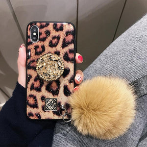 2019 New Fashion Fiber Soft Fur Ball Vintage Case For iPhone