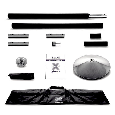 X Pole |  Black Silicone X-Pert (48mm) Dance Pole Set (NEW 2014 NX MODEL)