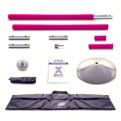 Pink Silicone X-Pert (48mm) - Dance Pole Set NEW 2014 NX MODEL