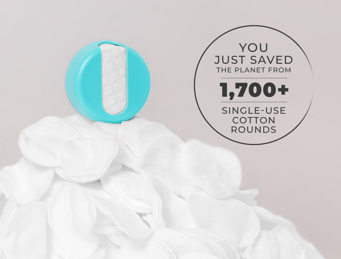 You just saved the planet from 1700 single use cotton rounds