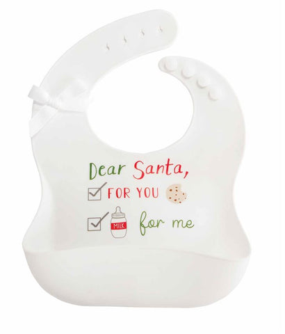 White Christmas Bib