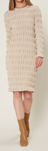 Eggshell Puff Textured Dress
