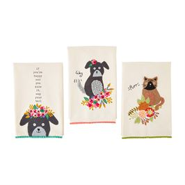 Pet Embroidered Towels